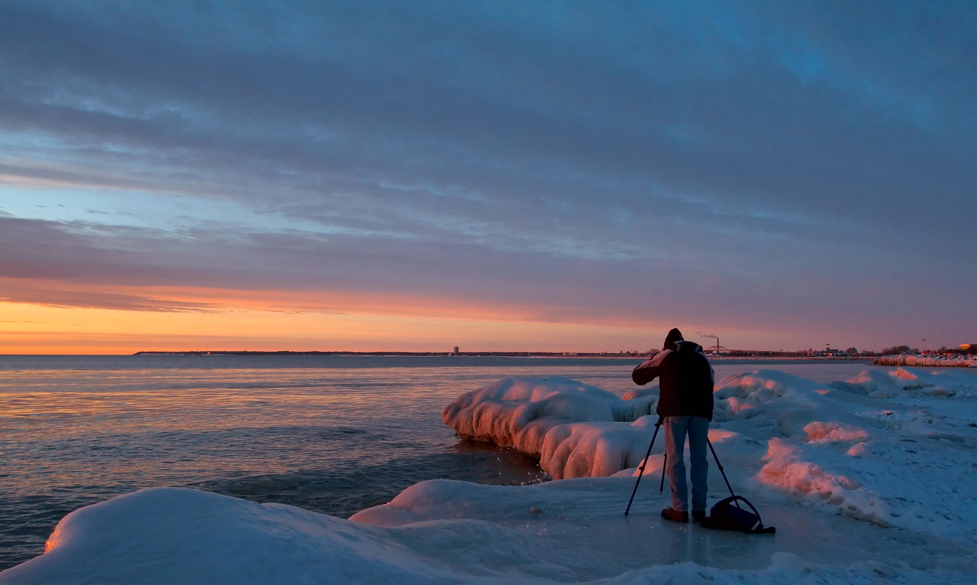 Fotograf, Sonnenuntergang