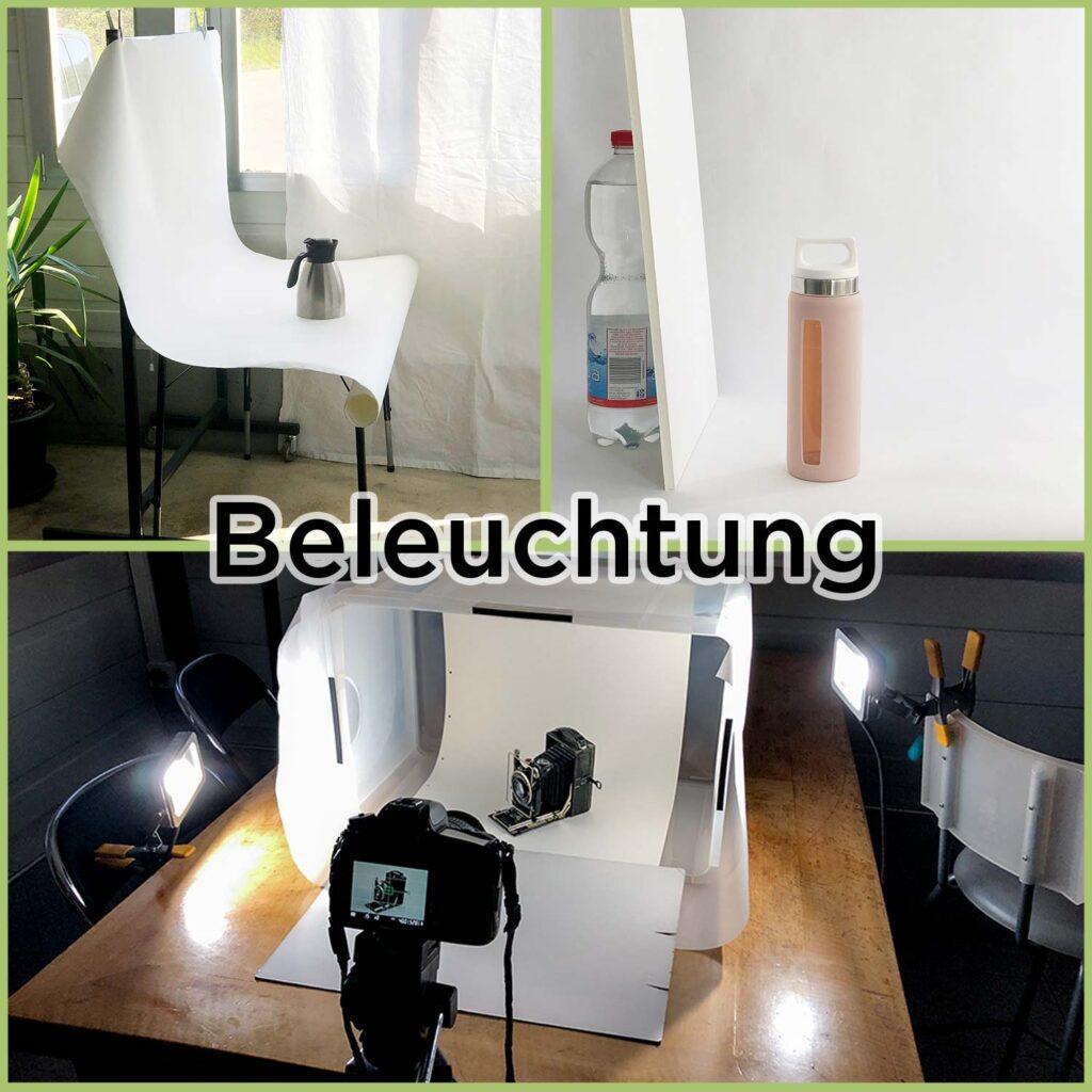 Beleuchtung in einem Fotografie Studio