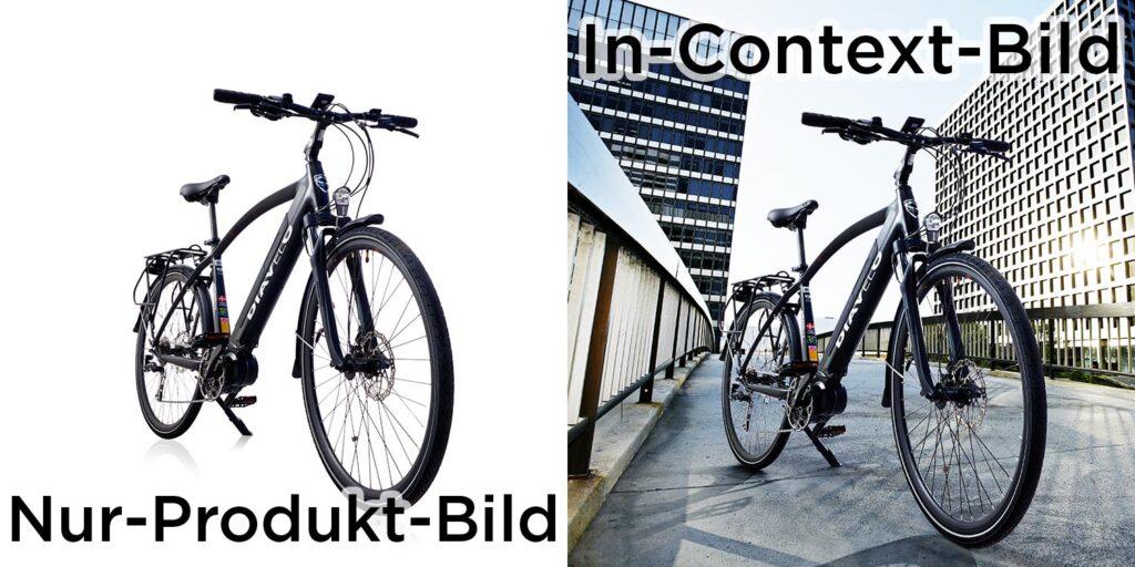 Unteschied von Nur-Produkt-Foto und In-Context-Foto