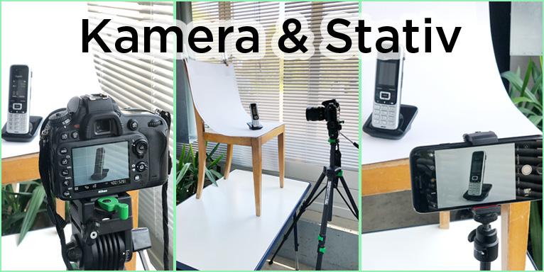 Kamera und Stativ
